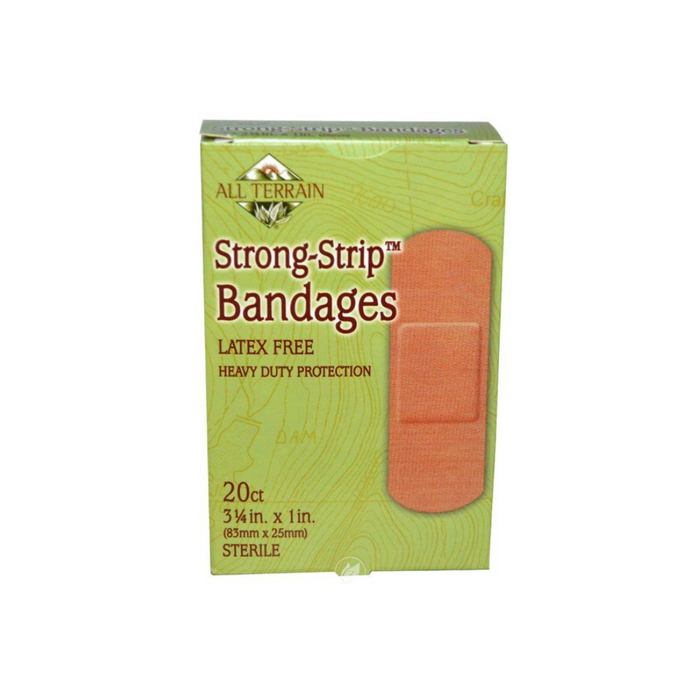Strong Strip Bandages 1x3.25 inch 20 Pieces by All Terrain