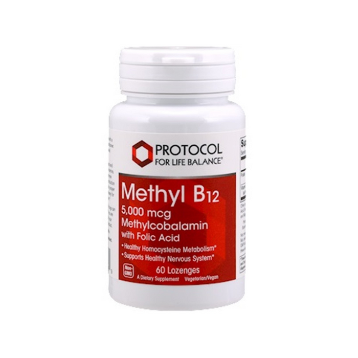 Methyl B12 5000 mcg 60 lozenges by Protocol For Life Balance
