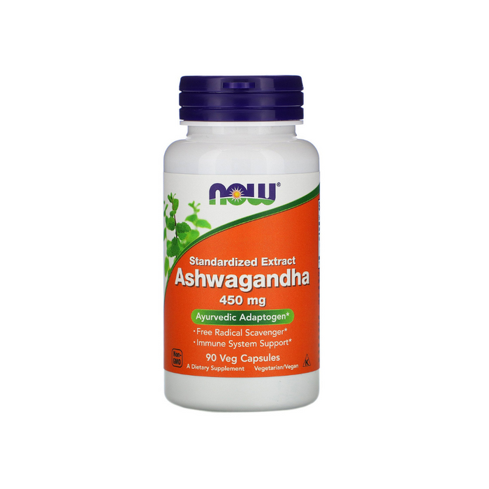 Ashwagandha 450 mg 90 vegetarian capsules by NOW Foods