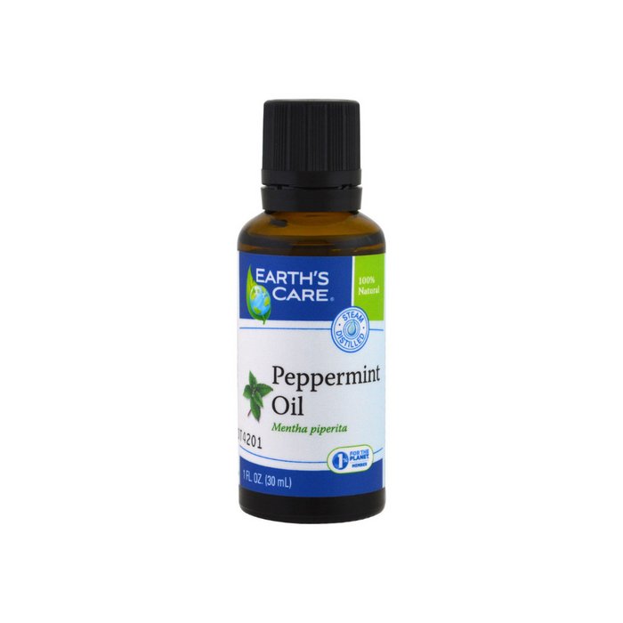 Peppermint Oil 100% Pure & Natural 1 oz by Earth's Care