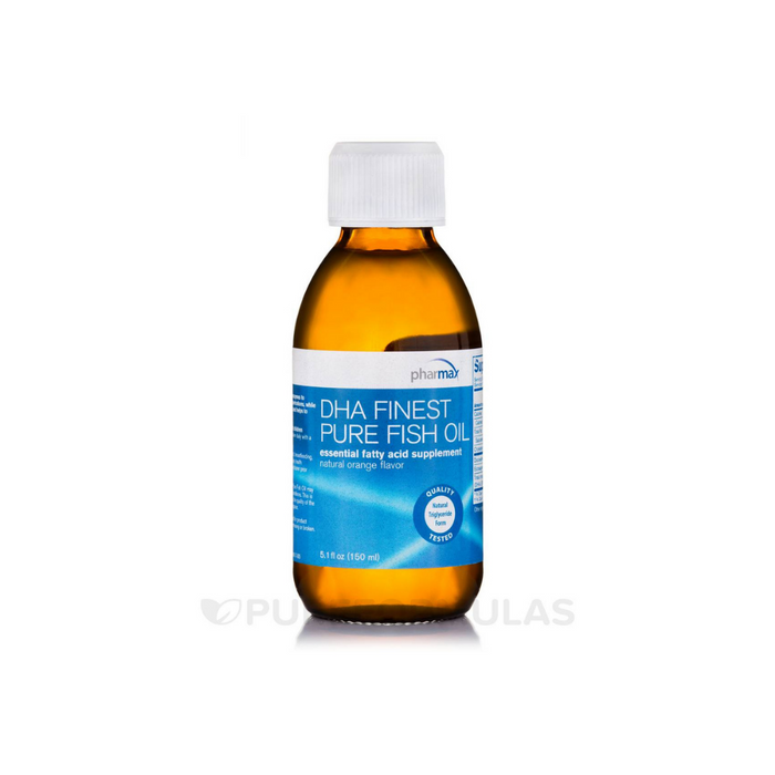 High DHA Finest Pure Fish Oil with essential oil of orange 5.1 fl oz by Pharmax