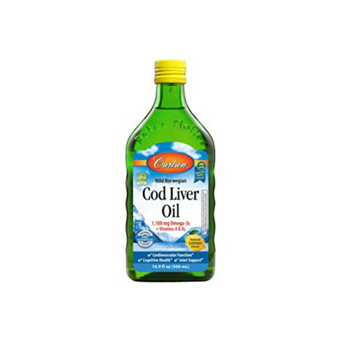 Cod Liver Oil Lemon 16.8 Oz (500 ml) by Carlson Labs