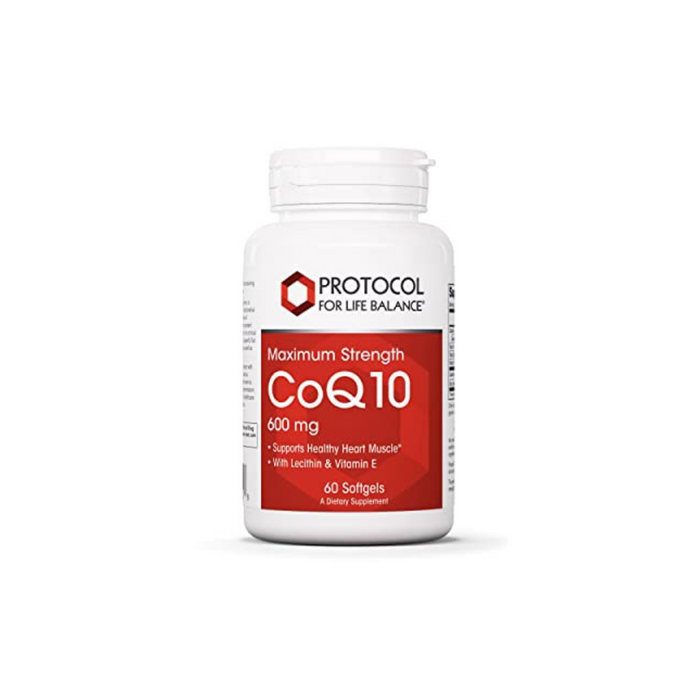 CoQ10 600 mg 60 softgels by Protocol For Life Balance