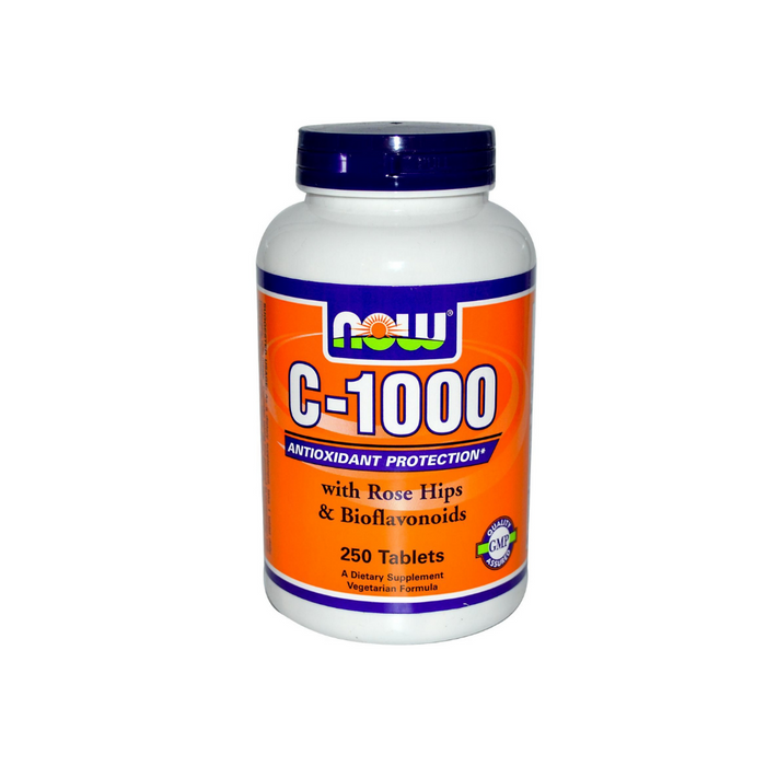 C-1000 with Rose Hips 250 tablets by NOW Foods