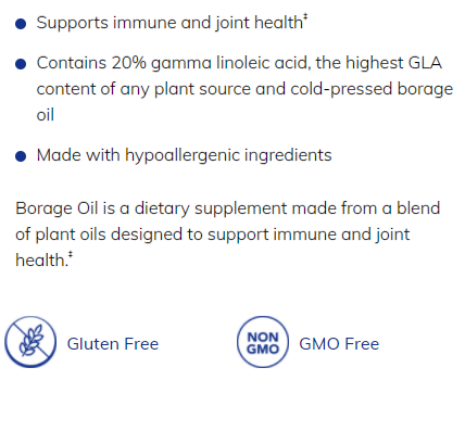 Borage Oil 60 softgels by Pure Encapsulations