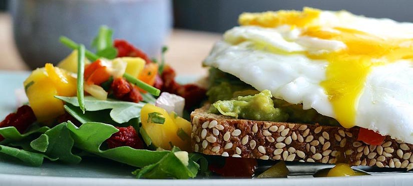 eggs avocado wholegrain toast