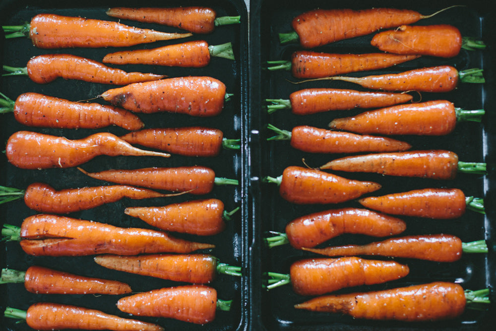 Carrots with a lovely glaze