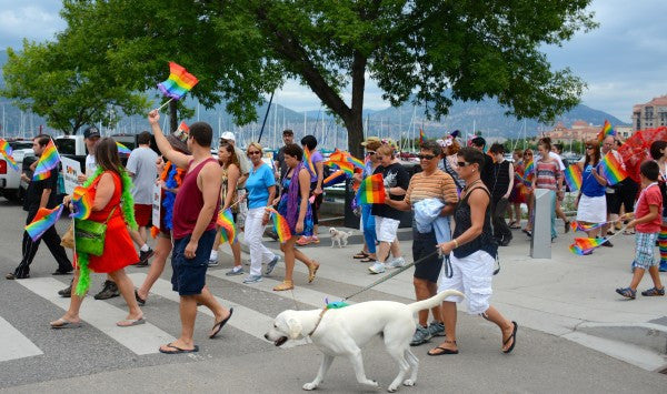 Deck out your pooch in rainbows and join us at Kelowna's Pride Festival!