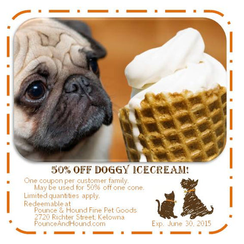 Introducing    icecream for dogs! - Pandosy Vet / Pounce & Hound