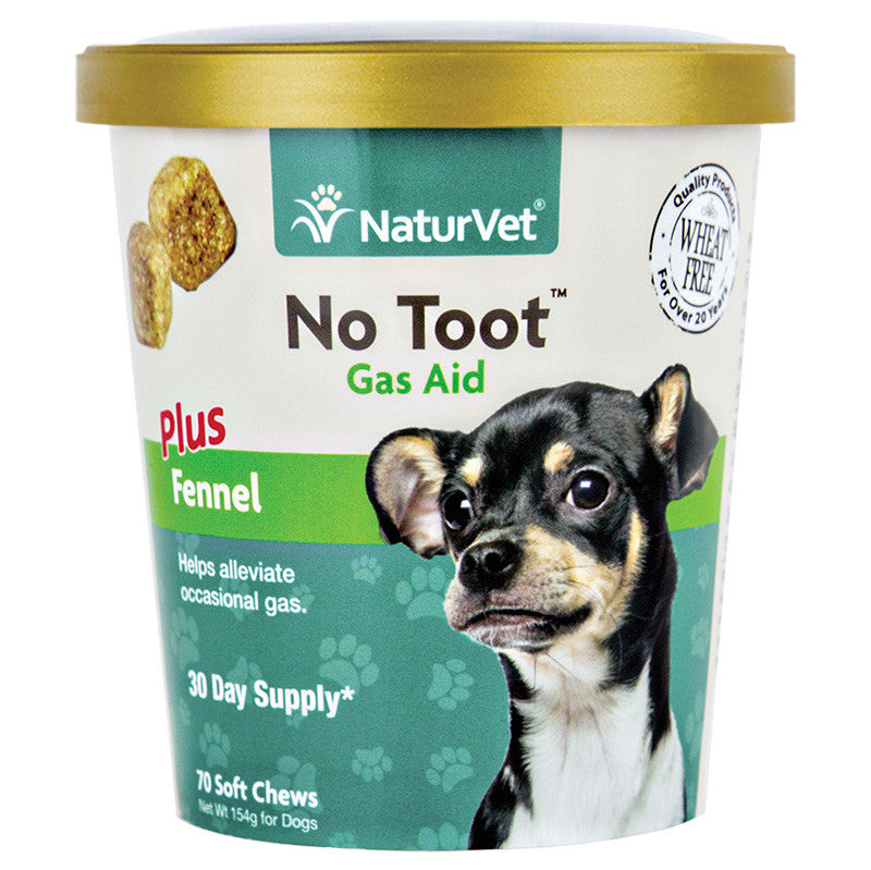 NaturVet No Toot Soft Chew with Fennel