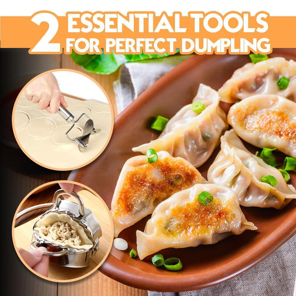 2 Essential Tools for Perfect Dumpling Kitchen MadameFlora 1 Set (Small Size)
