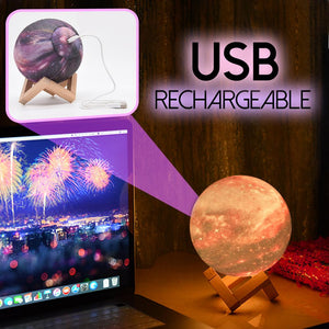 3D Galaxy Moon Lamp Home DazzlingBreeze