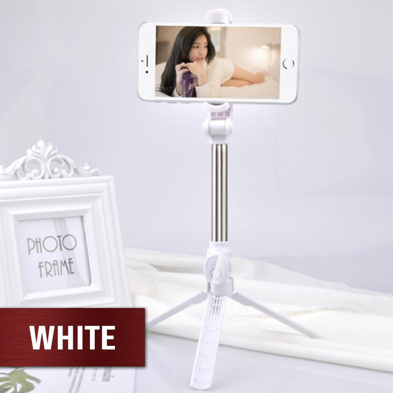 4 in 1 Mobile Phone Selfie Stick Gadgets DazzyCandy White
