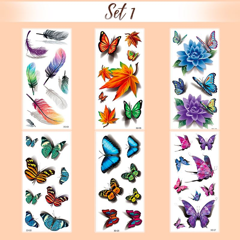 4D Waterproof Tattoo Sticker makeup starryhome