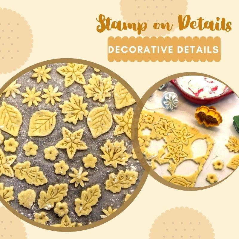 4pcs Stamp Biscuit Mold Kitchen starryhome