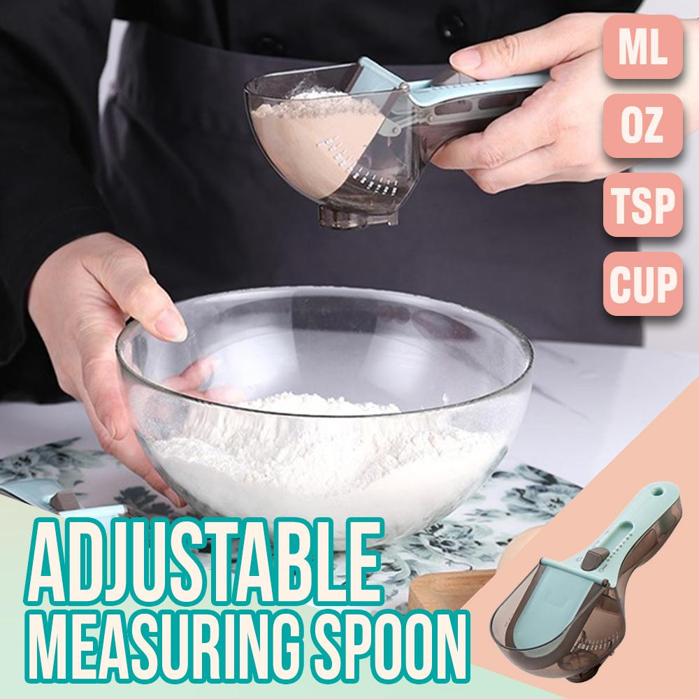 Adjustable Measuring Spoon Kitchen LuminousUnicorn Large
