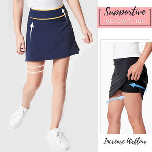 Anti-Chafing Double-Layer Skort Bottoms starryhome