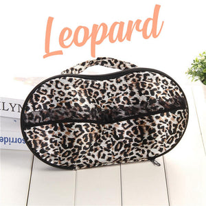 Bra & Panties Travel Organizer Intimate Wear DazzlingBreeze Leopard