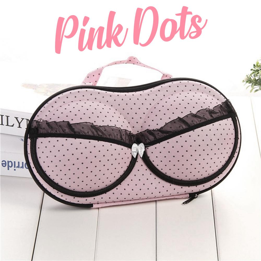 Bra & Panties Travel Organizer Intimate Wear DazzlingBreeze Pink Dots