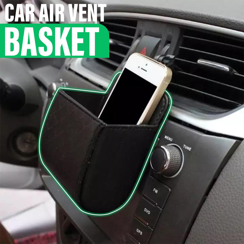 Car Leather Storage Basket Car ladybethel