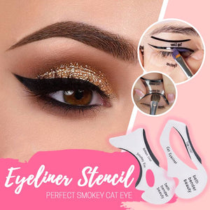 Cat Eyeliner & Smokey Eye Stencil makeup starryhome