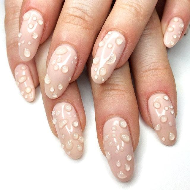 Chic 3D Water Drop Nail Gel Nails BayfairConcept