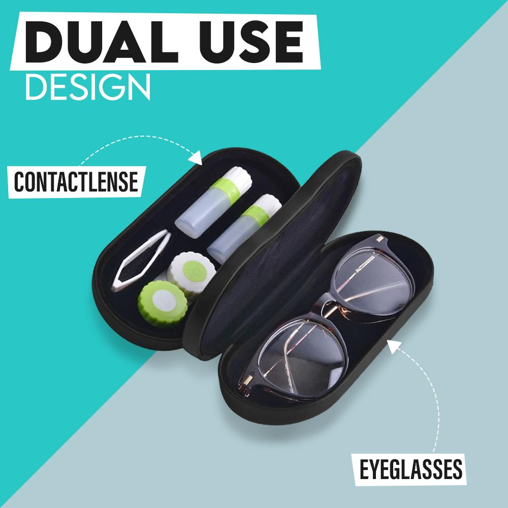 Deux+ 2-in-1 Glasses & Contacts Storage Case Accessories MadameFlora