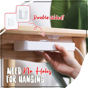 Double-Sided Adhesive Wall Hooks (4 Pairs) Home DazzyCandy