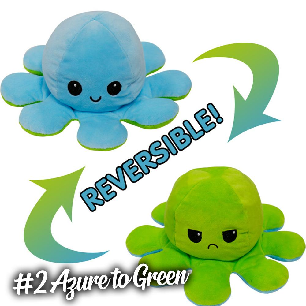 Emotion Reversible Octopus Kids DazzlingBreeze #2 Azure to Green 1 PC