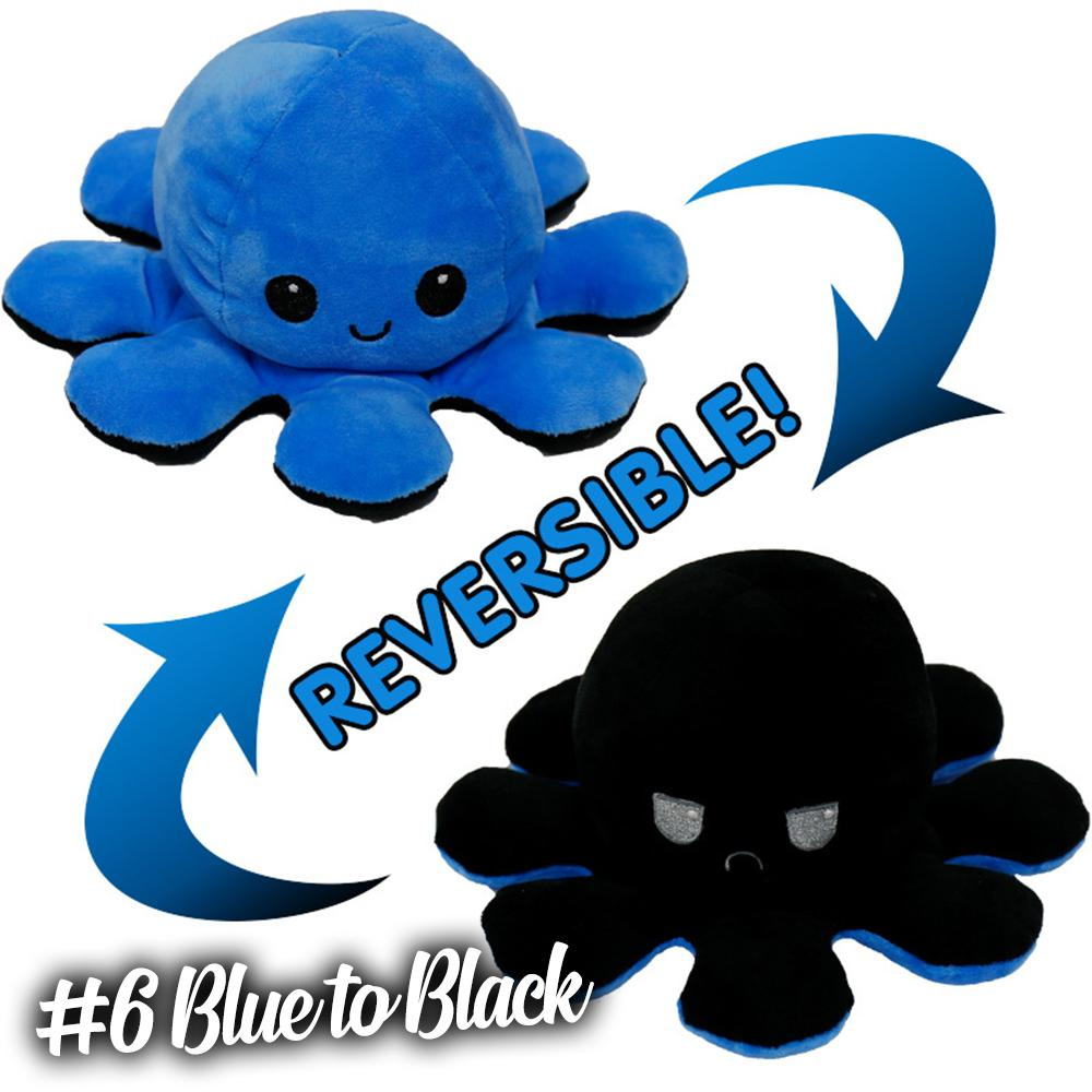 Emotion Reversible Octopus Kids DazzlingBreeze #6 Blue to Black 1 PC