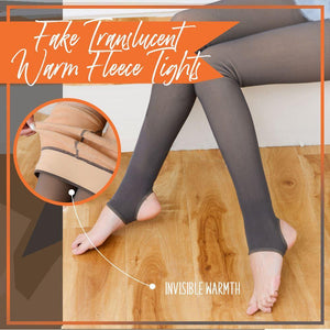 Fake Translucent Warm Fleece Tights Bottom MadameFlora