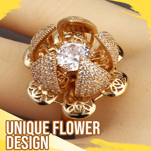 Flower Bloom Ring Jewelry DazzlingBreeze