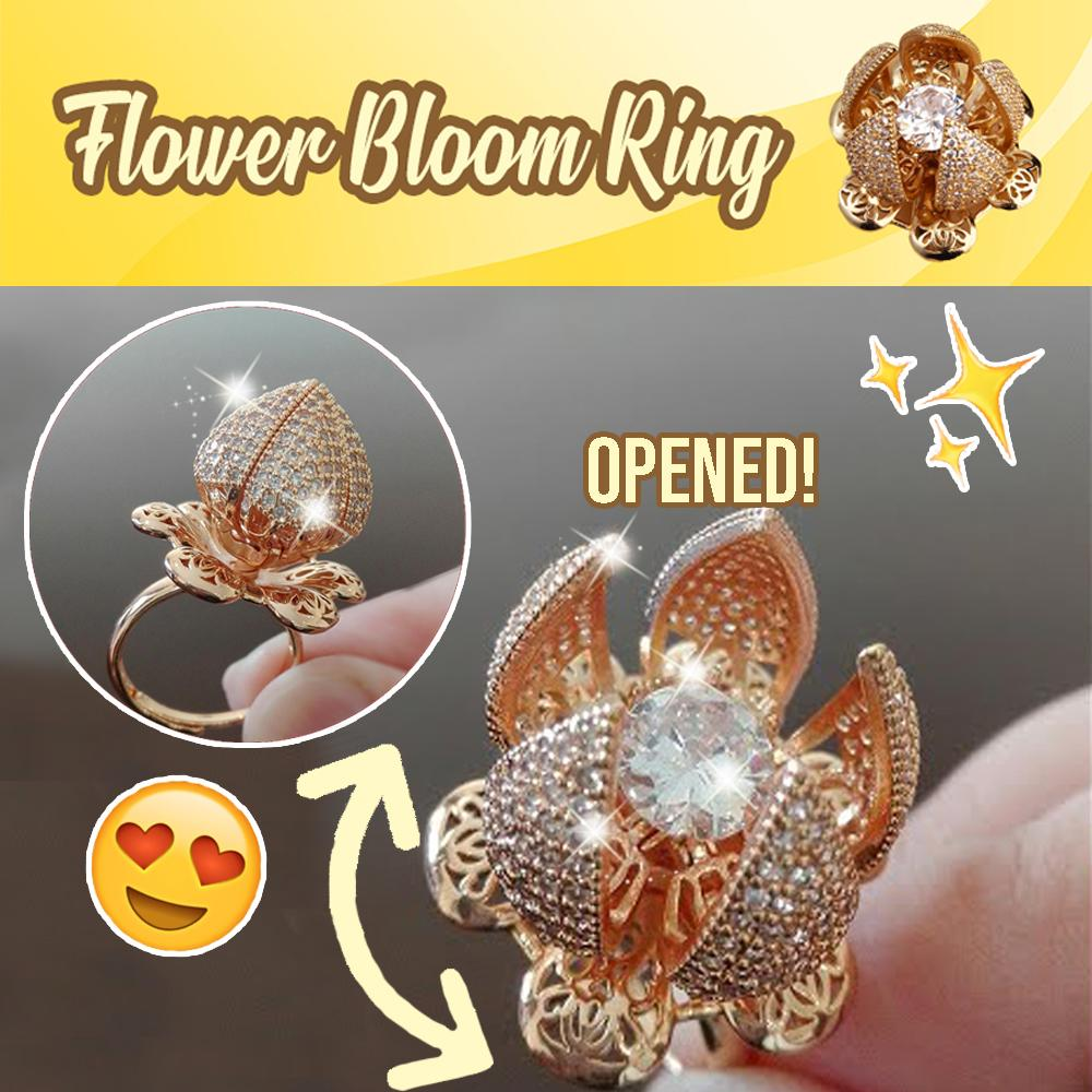 Flower Bloom Ring Jewelry DazzlingBreeze Gold