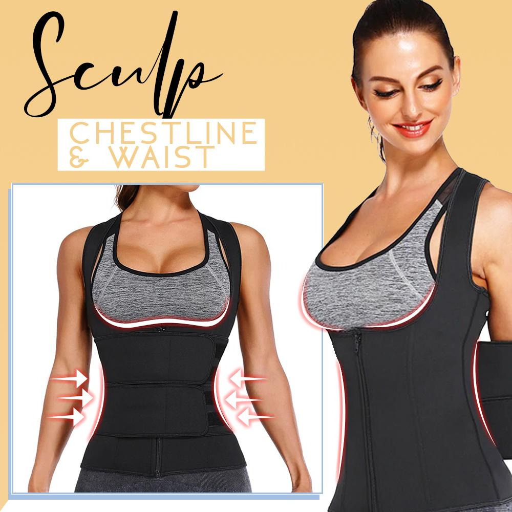 HeatUp 2-in-1 Bust Lifter & Waist Trimmer Women MadameFlora
