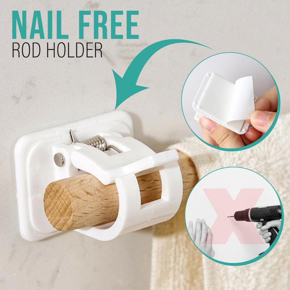 HomePro Easy Nail-Free Rod Holders MadameFlora