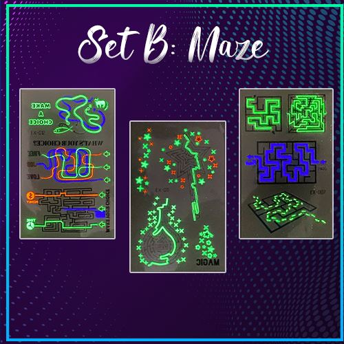 Inkstr™ Glow-In-The-Dark Tattoo Sticker Set Kids starryhome