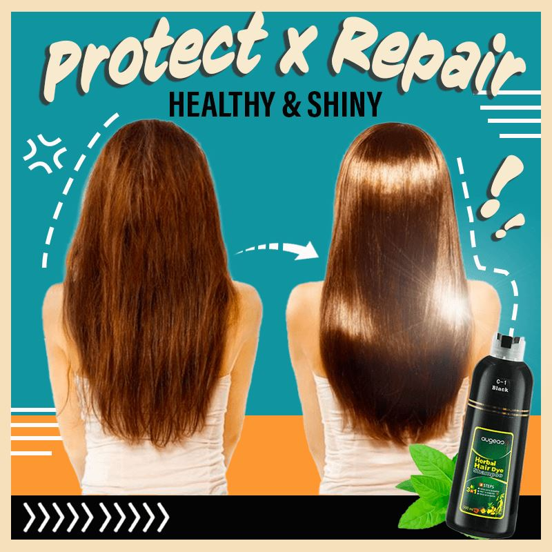 Instant Herbal Hair Colouring Shampoo Hair starryhome