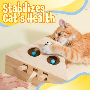 Interactive Wooden Cat Toy Pets LuminousUnicorn