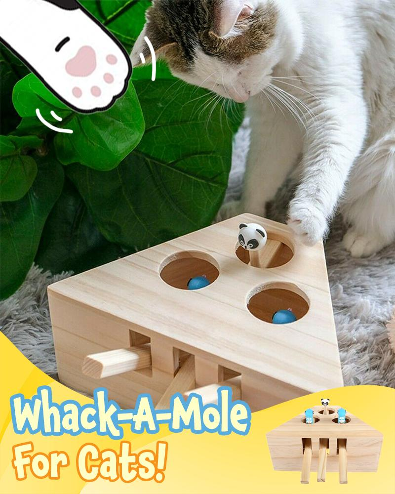 Interactive Wooden Cat Toy Pets LuminousUnicorn Three-Hole