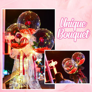 LED Balloon Rose Bouquet Accessories DazzlingBreeze