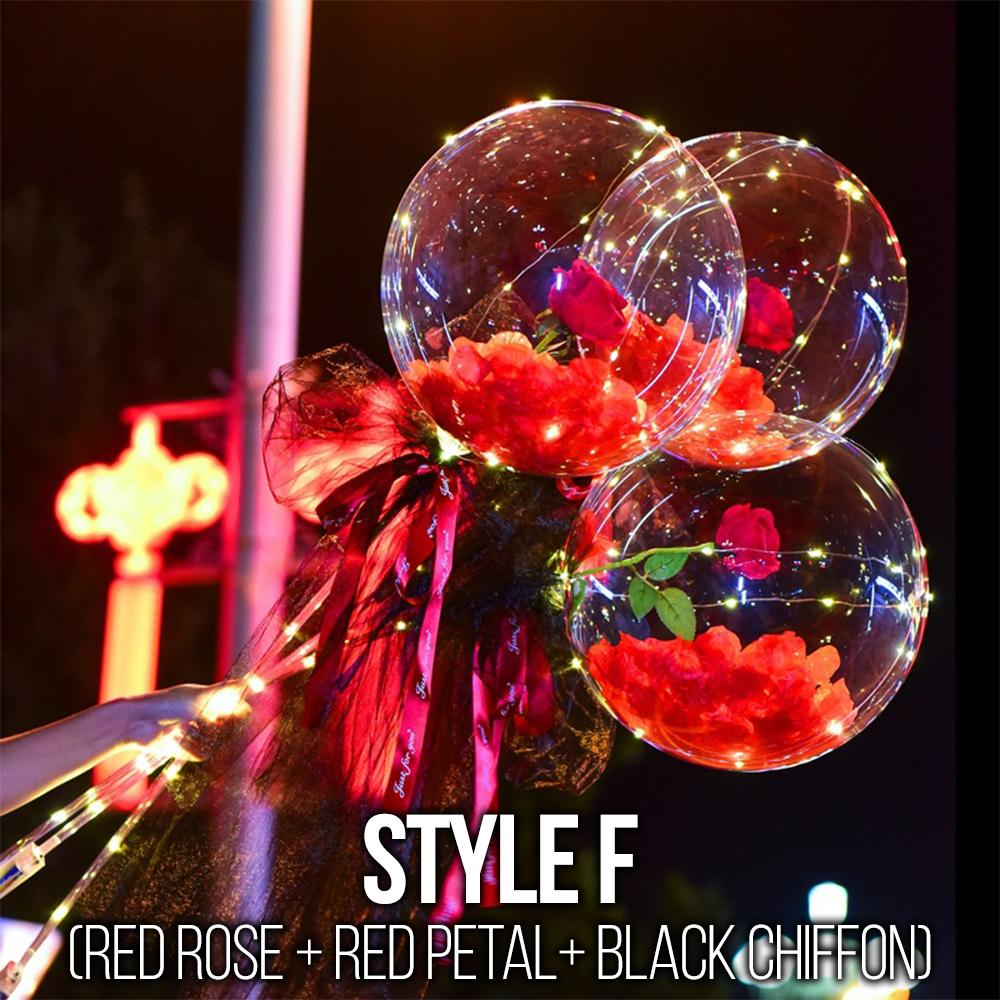 LED Balloon Rose Bouquet Accessories DazzlingBreeze Style F