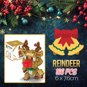 Mini Xmas Santa Building Blocks Kids DazzlingBreeze Reindeer