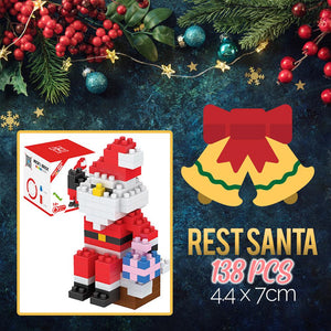 Mini Xmas Santa Building Blocks Kids DazzlingBreeze Rest Santa