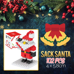 Mini Xmas Santa Building Blocks Kids DazzlingBreeze Sack Santa