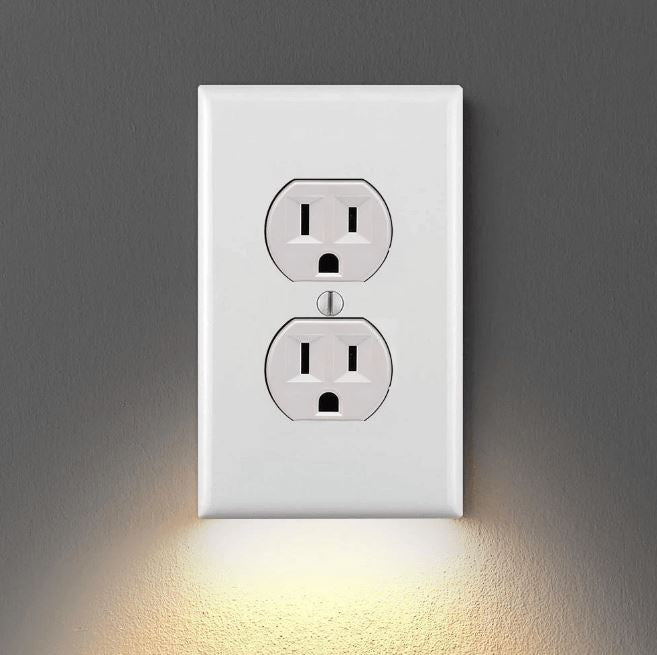 Outlet Wall Plate with Led Night Lights Home trillionwish