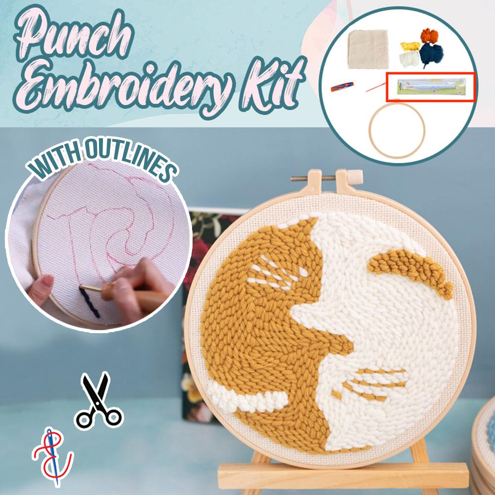 Punch Embroidery Kit Stationary DazzlingBreeze