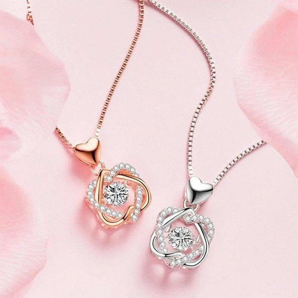 Rose & Necklace Gift Set Accessories DazzlingBreeze Necklace Only Gold