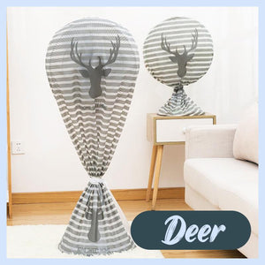Round Electric Fan Dust Cover Home DazzyCandy Deer Short