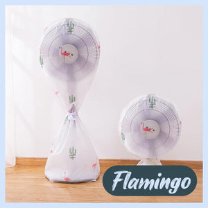 Round Electric Fan Dust Cover Home DazzyCandy Flamingo Short