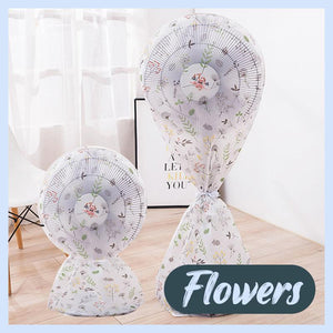 Round Electric Fan Dust Cover Home DazzyCandy Flowers Short